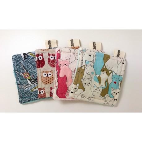 Lingette lavable éponge motifs animaux