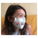 masque barrière en tissu 3D sans fente enfant