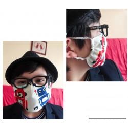 masque barrière en tissu 3D sans fente adolescent ou petit visage