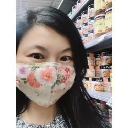 masque barrière en tissu 3D sans fente adulte