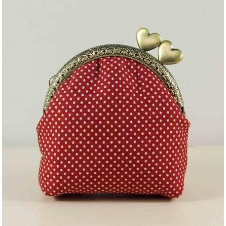Mini porte-monnaie avec fermoir demi-cercle